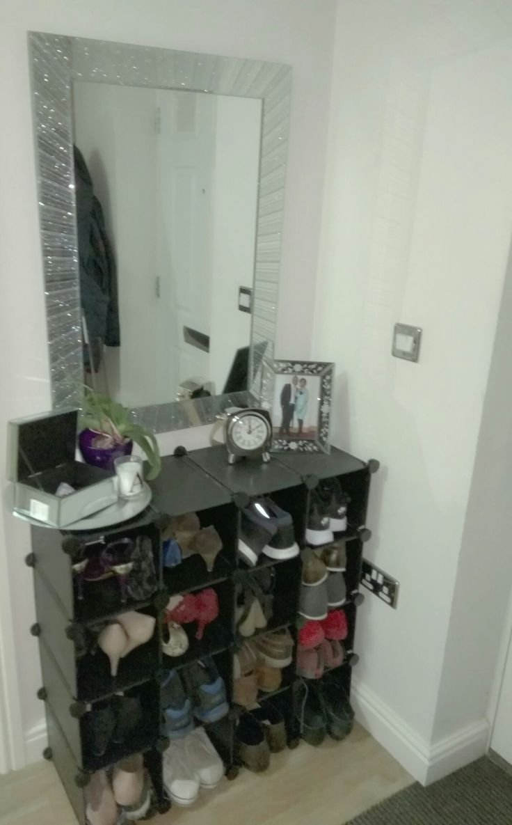 What do you think...Yay or nay to this simple entrance shoe tidy and display? Please leave a comment. ☺