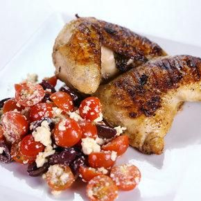 Chicken Recipe : Michael Symon's Greek Style Grilled Chicken