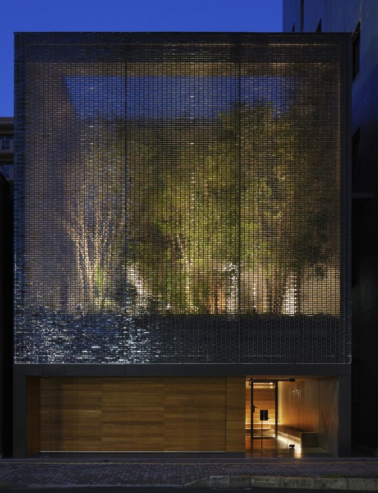 A garden enclosed by 6000 glass blocks | Optical Glass House by Hiroshi Nakamura, Hiroshima, Japan