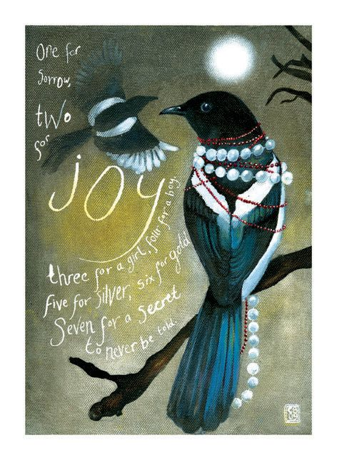 Mr and Mrs Magpie. One for sorrow Two for Joy. by WildRushOfLove, £38.00