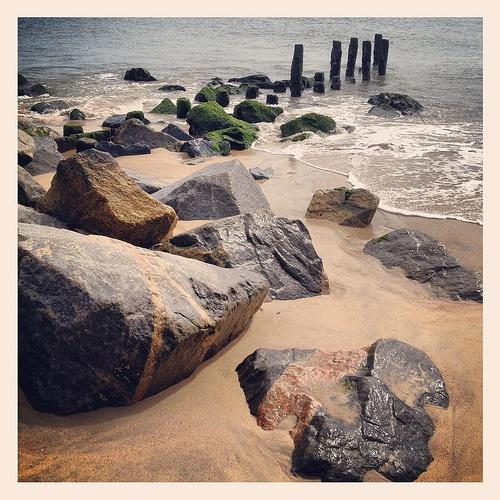 Cape Henlopen State Park Rehoboth Lewes Delaware Beach Atlantic Ocean Rocks Jetty Pilings IMG_9057