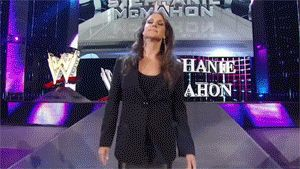 Stephanie McMahon as the one half of The Authoritiy gif #yesyeyes