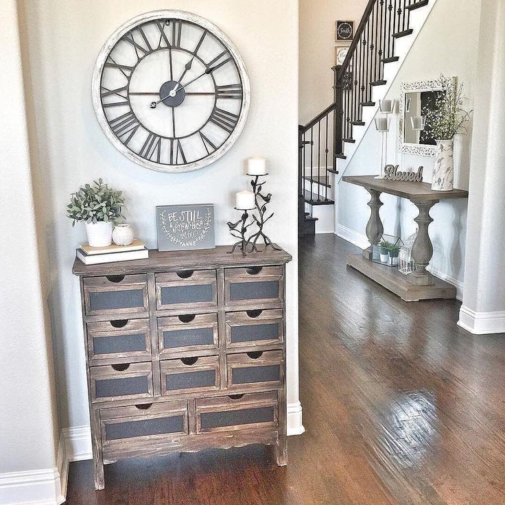 Large Wall Clock In Foyer : Best ideas about wall clock decor on pinterest large