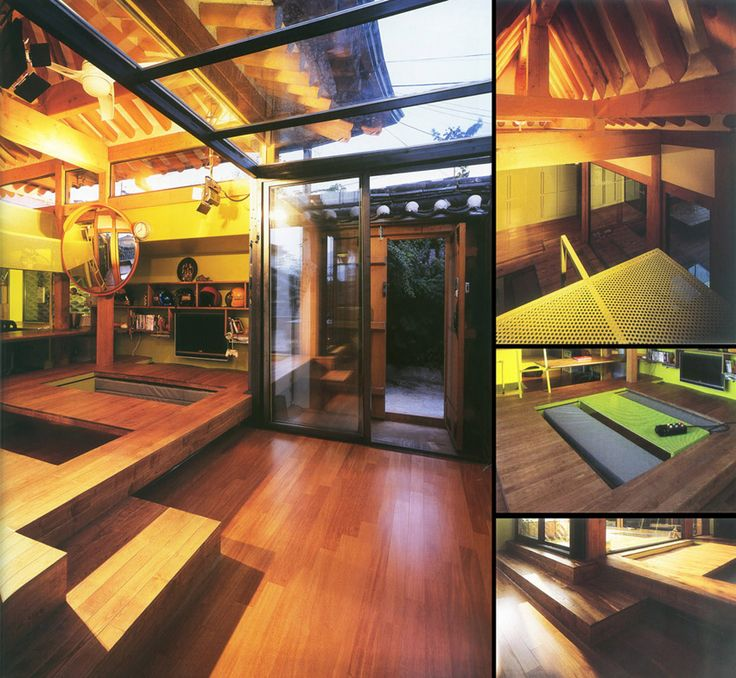 Hanok: traditional Korean house.