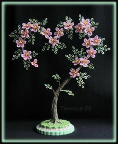 how to make beaded trees - Google Search