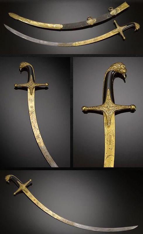 Mameluke Sabre Sword Dated: circa 1820 Culture: British