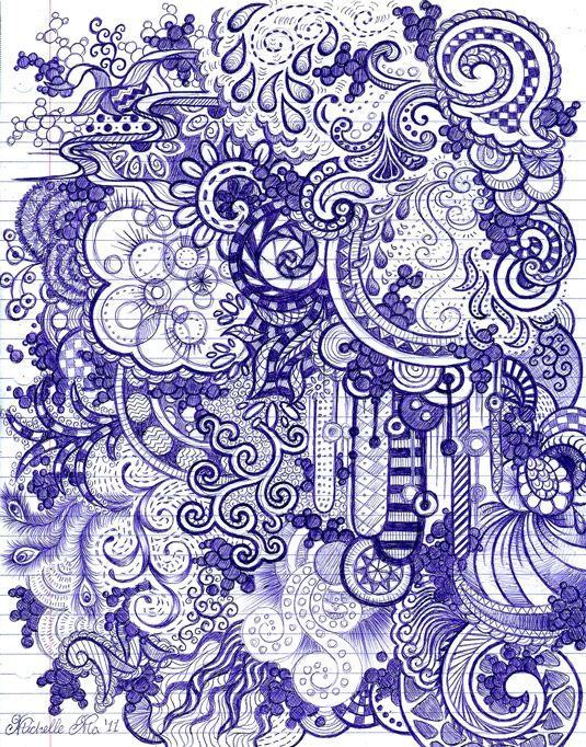 Doodling is meant to be a completely subconscious activity where you simple put pen/pencil to paper and start drawing. It's basically the ac...