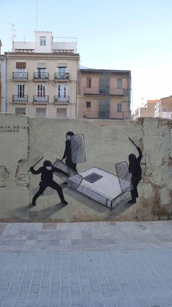 "Escif - ""Education for Citzenship."" - Valencia, Spain"