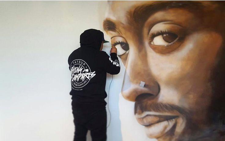 "439 Likes, 18 Comments - Jason Manukau (@jmunz549) on Instagram: ""#alleyesonme #tupac #mural #jmunzcustoms"""