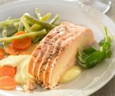 Salmon with Salmon Mousse stuffing and Mango Sauce | Official Thermomix Recipe Community