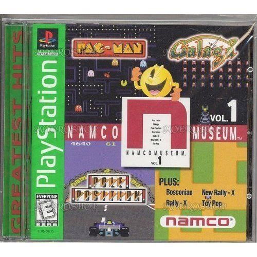 Namco Museum Vol. 1 Only for Sony PlayStation 1 Greatest Hits Edition Rated E for Everyone in Green Jewel Game Case with Game Disc and Booklet by Now Production & Namco/Namco Bandai Games & Bandai Namco Games 1996 http://www.amazon.com/dp/B00004YZAO/ref=cm_sw_r_pi_dp_N0K2ub05FN07B