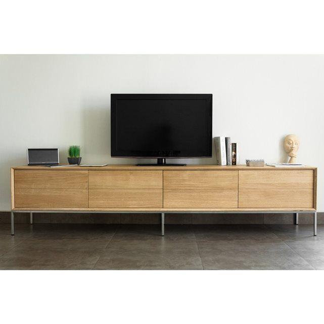 Banc Tv Design 2 Tiroirs 2 Portes Woodsquare Atylia ATYLIA