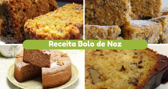 O bolo de noz é perfeito para quem pretende um bolo com um pouco de substância. É ideal para quem gosta deste fruto seco e uma forma para aproveitar as noz