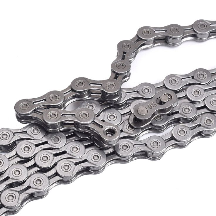 BIKIGHT 116 Link 9 Speed Bicycle Chain Silver Plating Hollow with Original Magic Buckle Bicycle Parts