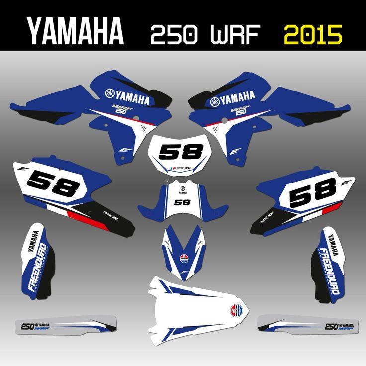Création kit déco Yamaha 250 WRF enduro