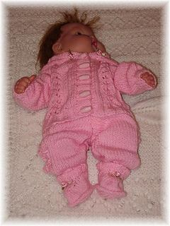 """Knitmeasweater : FREE KNITTED PATTERN  Hooded Suits for 10-16"""" Boy..."""