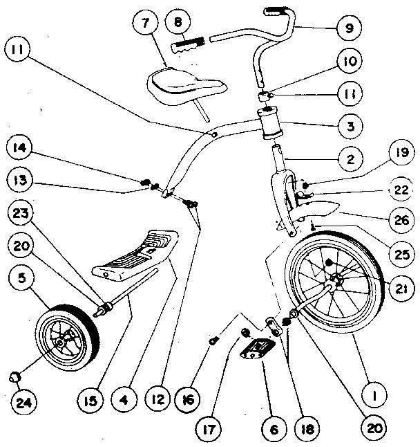 roadmaster tricycle replacement parts