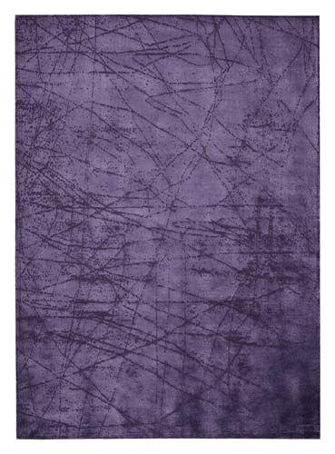 Calvin Klein Purple Scattered Lines Area Rug