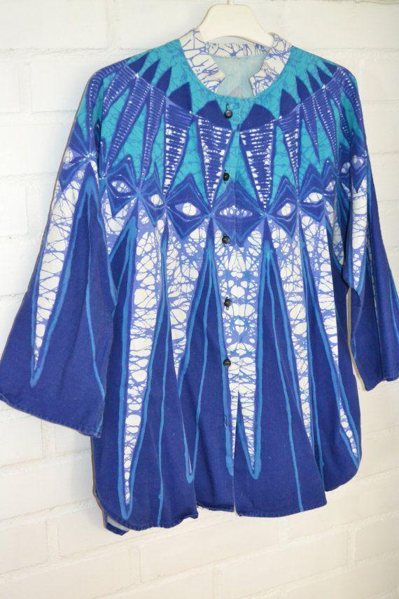 Retro fabric tunic / jacket Maud Fredin by Scandinaviavandesign