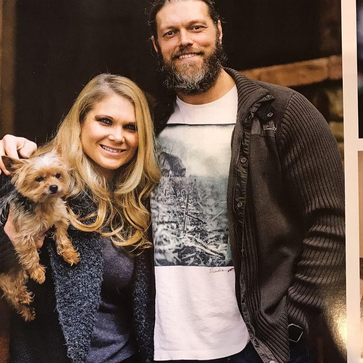WWE Hall of Fame Superstar Edge (Adam Copeland) and his wife WWE Hall of Fame Superstar Beth Phoenix (Beth Kocianski Copeland) were featured in an article in  Carolina Home + Garden's 2017 Summer issue #WWE #WWEHOF #wwecouples #wwewives #wwewags