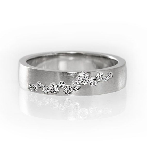 Unique diamond wedding ring diamond wedding band by KorusDesign