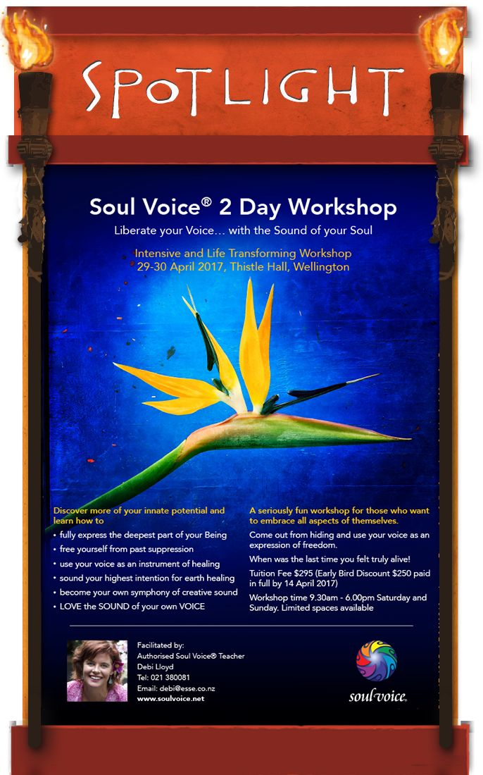Join Debi's 2 day workshop. Find out more . . DrumRoll ... and the beat goes out ... Issue 75 sent Wed 5th April.  http://conta.cc/2oXf2Yf #DrumRoll #DrumRollPromotions #NewZealand #wellbeing #connection #community #advertising #promote #SoulVoice #Debi