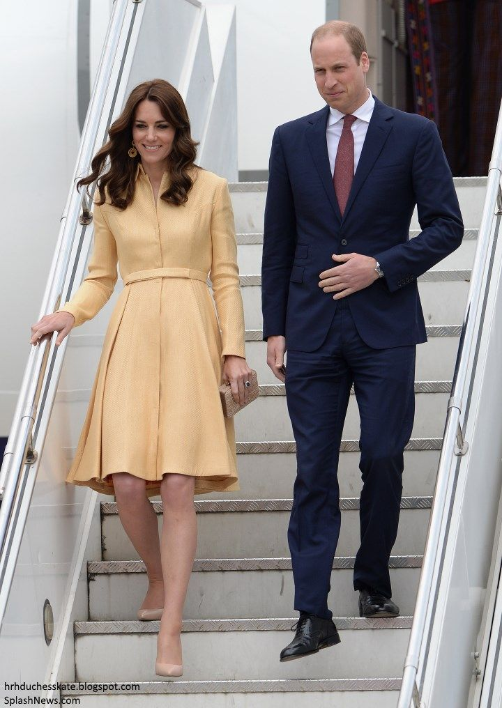 Duchess Kate: Royal Repeats for Kate as Tour Moves to Bhutan! Kate was wearing her £1,200 bespoke Emilia Wickstead soft-yellow gold coatdress