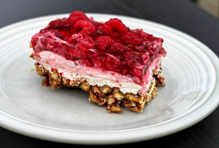 Raspberry Pretzel Dessert. Not sure what the official name is but this stuff is magic!(:
