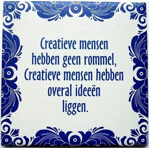 Creatief omgaan met rommel.... ;-)