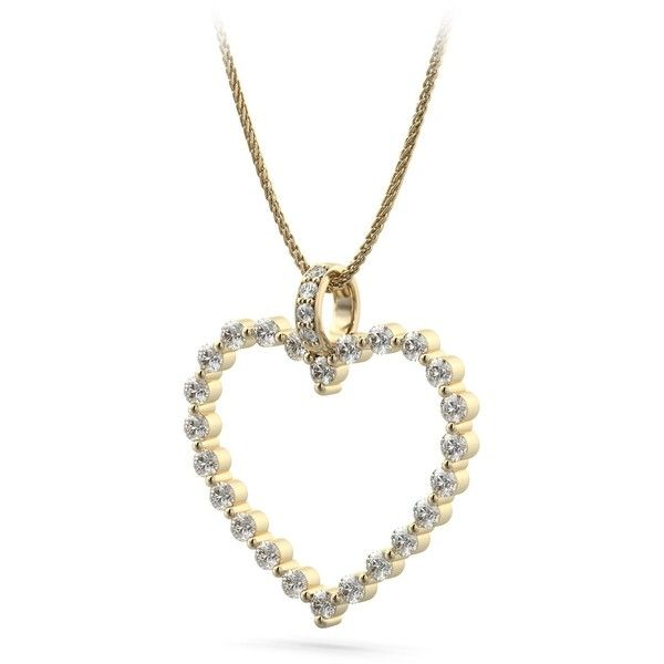1.62  ct. t.w Large Queen Of Hearts Diamond 30mm Pendant in 18k Yellow... ($3,399) ❤ liked on Polyvore featuring jewelry, pendants, heart shaped gold pendant, heart shaped diamond pendant, gold diamond pendant, gold jewelry and heart pendant