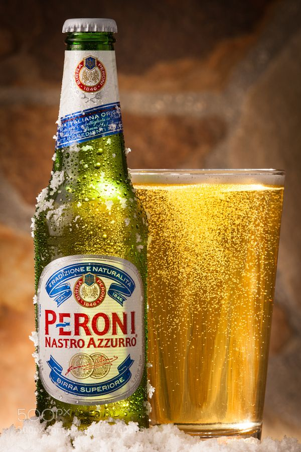 peroni beer bottle with pint glass by timguzmanphotography