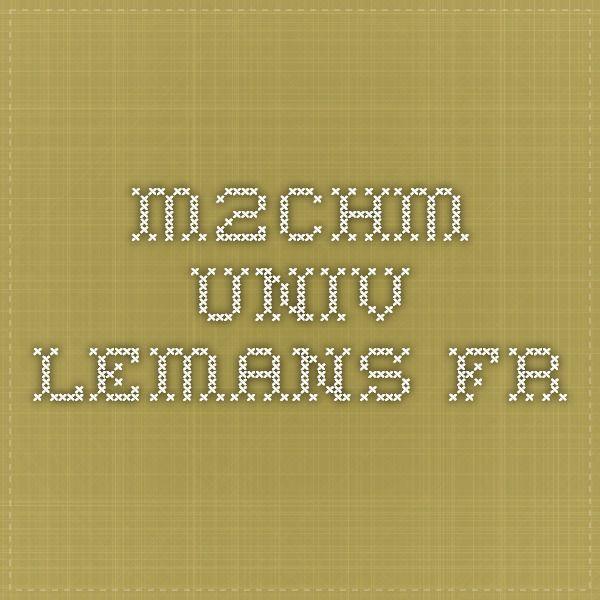 m2chm.univ-lemans.fr