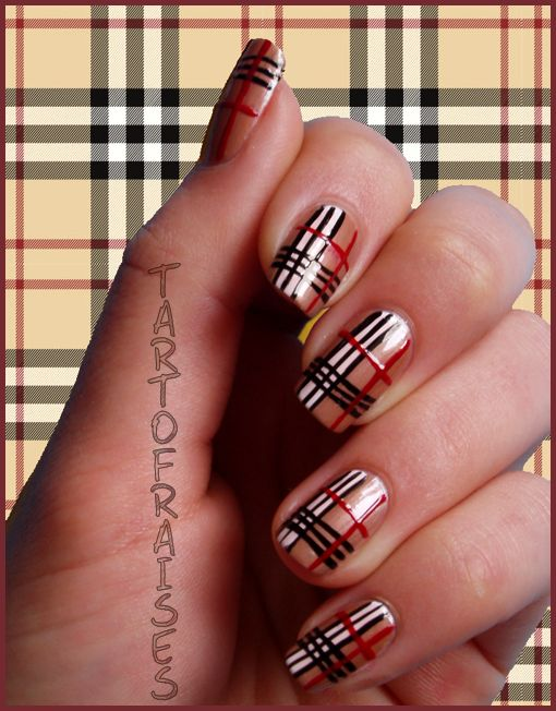 Best 25 nail art video download ideas on pinterest bag of nails burberry nails nail art designs multicolor red black and white nails sciox Choice Image