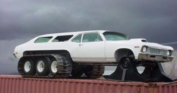 Chevy Nova Wagon (Snowmobile +  8 wheels) 1970