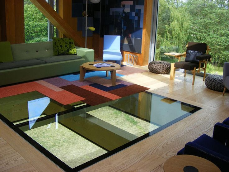 Glazing Vision's  walkable #skylight design allows the surrounding environment to be viewed in unique ways.