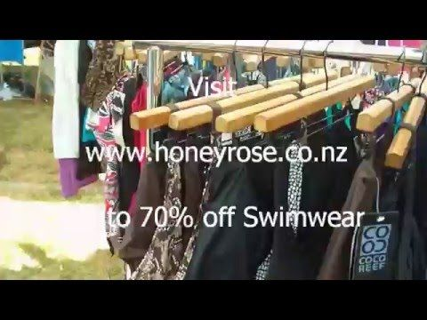 For current Swimwear please visit our online webstore for womans swimwear including tankinis, bikinis, onepiece swimsuits and togs  swimwear nz online shopping at www.honeyrose.co.nz  Ladies swimwear on sale now!  YouTube video snippet is of our Cooks Beach summer market pop-up store.  p.s Free makeup gift with every purchase = )  #swimwearnz #honeyrose  Swimwear Brand Sale New Zealand, specialising in closeout women's togs bikini tankini and swimsuit nz  Fast Delivery