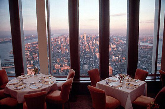 """I Can See For Miles.....""-----View from Windows On The World.  A restaurant on the 107th floor of the North Tower at One World Trade Center, New York City."
