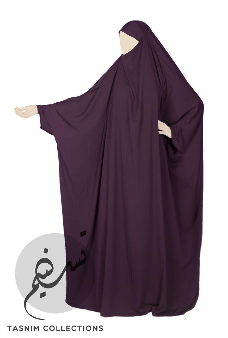 Full length essential jilbab 1 pcs - plum