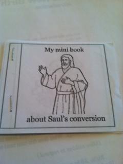 Saul of Tarsus Mini-Book craft