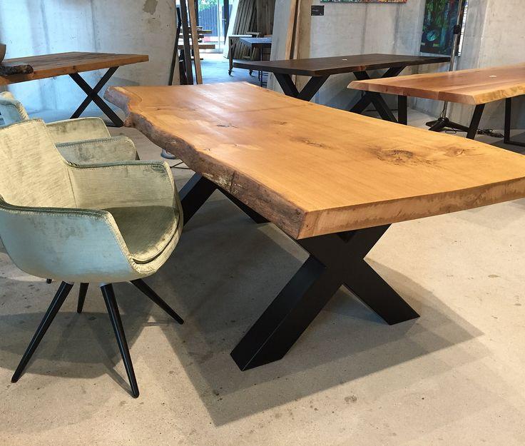 Esstisch Baumtisch Aus Eichenholz Unverleimt Aus Einem Stück