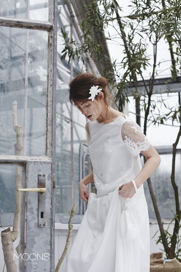 MOONS  [ maan ] model.  MOONS wedding dress -  a sensual mixture of minimalism with romanticism philosophy. made in Poland.