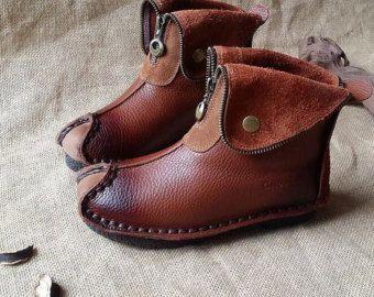 Botas Oxford zapatos Retro zapatos planos suaves botas por HerHis