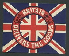 100-20 GB UK WWII Britain Delivers The Goods Label MNG