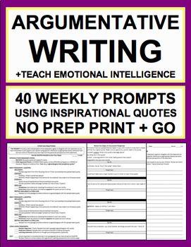 Persuasive Writing & Elaboration Practice with Inspirational Quotes NO PREP – Pop Culture Classroom: ELA