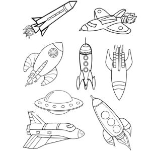 Exploring Gods Word Rocket Coloring Page