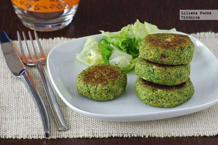 Medallones de brócoli veganos. Receta saludable. www.farmaciafrancesa.com