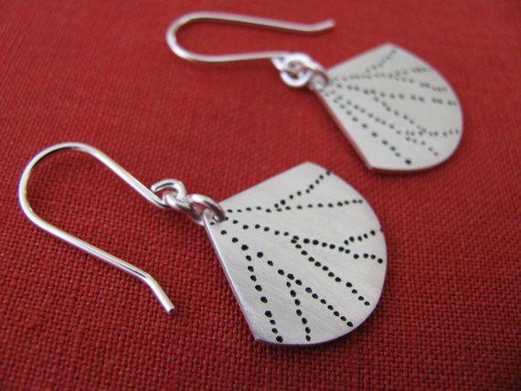 Fern earrings 925 silver handmadeooak by juliecannonjewellery, $85.00
