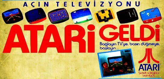 Açın televizyonu Atari geldi