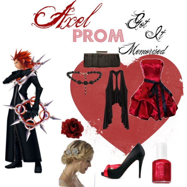 """""""Axel *Prom*(Kingdom Hearts)...Every Kingdom Hearts PROM outfit will be for girls(sorry guys)"""" by scarletwolf on Polyvore"""