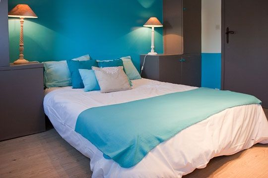 décoration chambre turquoise chocolat